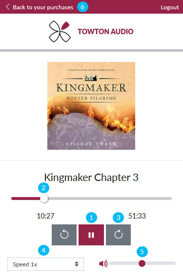 Using the Web Audio Player -  Audio book playback Image